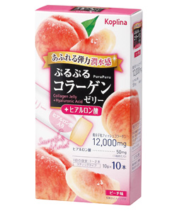 ぷるぷるコラーゲンゼリー 10本入り(ヒアルロン酸入り)パッケージ画像